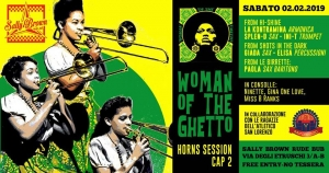 "L'Atletico San Lorenzo e Woman of the Ghetto al Sally Brown per ""Horns Session 2"""